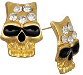 jewels,candy luxx,skull earrings,post earrings,earrings,beaded earrings,rhinestone earrings
