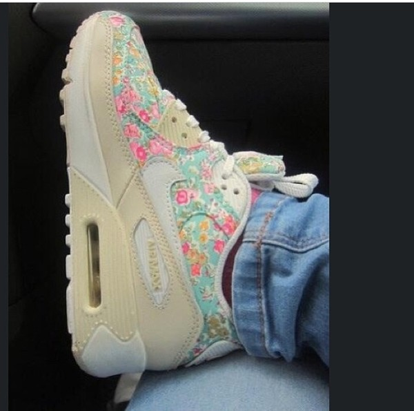 shoes nike shoes air max womens shoes floral shoes