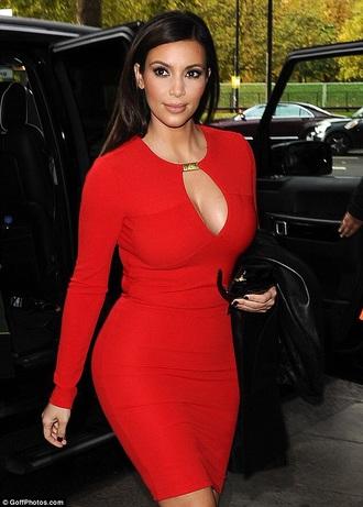 red dress kim kardashian classy sexy dress celebrity style