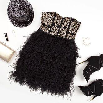 dress angl clothing feathered dress tube dress lace dress nye dress holiday dress shop angl black feathered dress angl outfit black and white