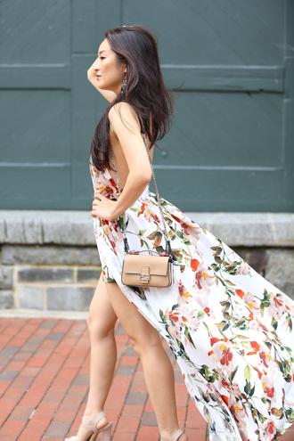 sensible stylista blogger romper shoes bag maxi dress summer dress sandals summer outfits