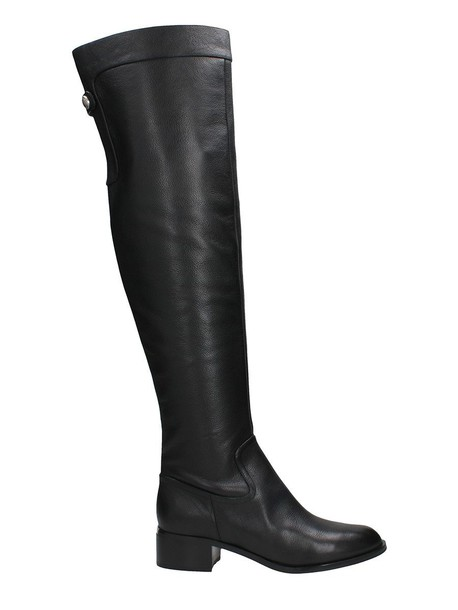 Michael Kors black leather boots leather boots leather black black leather shoes