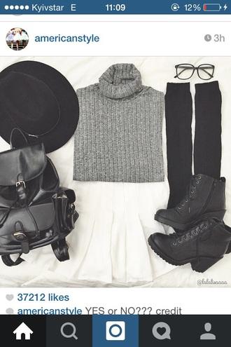 sweater hat bag backpack
