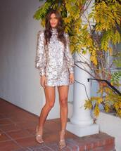 dress,silver,mini dress,rocky barnes,blogger,blogger style