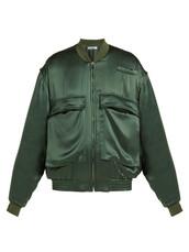 jacket,bomber jacket,satin bomber,oversized,silk,green,satin