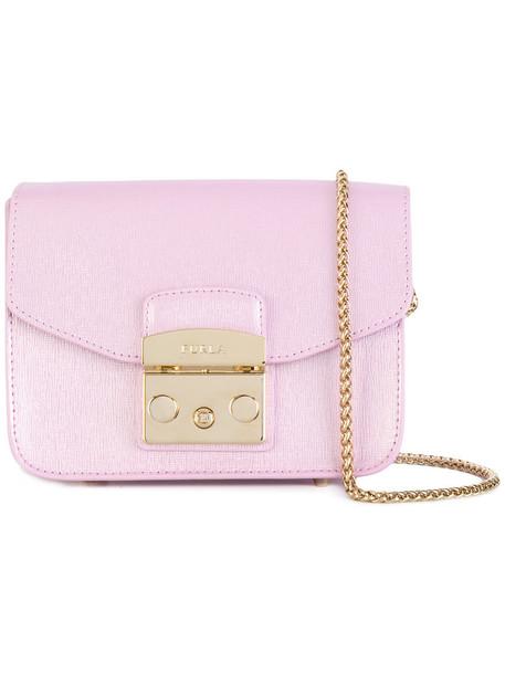 Furla women bag crossbody bag leather purple pink