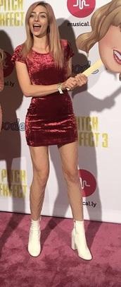 dress,red velevet,velvet,crushed velvet