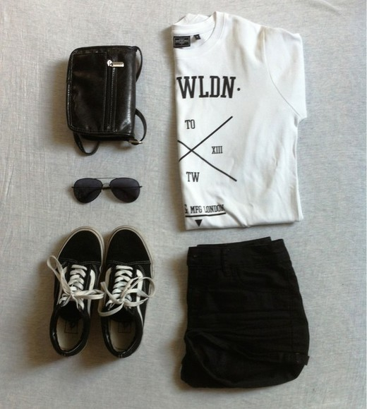 indie vans t-shirt bag sunglasses hipter spring purse boho