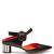 Front-tie block-heel leather mules