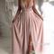 A-line backless long prom dress, evening dress - 24prom