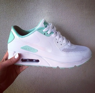 shoes nike blue white air max white and mint nike shoes nike air max 90 running shoes nike air max 1 nike air floral nikes nike running shoes nike shoes for women nike air maxes 90 white green turqoise and white