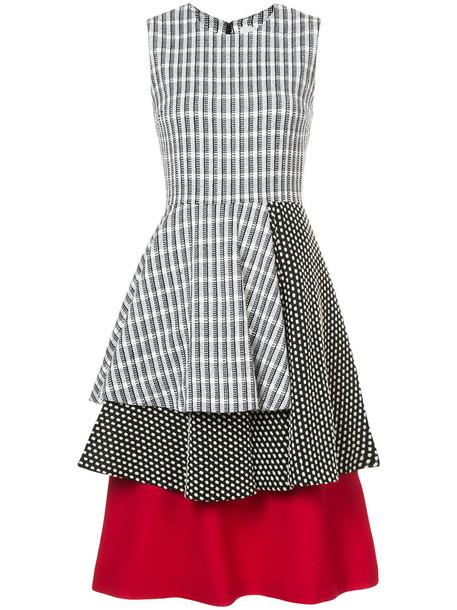 Novis dress print dress women layered cotton print black