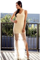 dresss,lace dress,nude,heels,lovely dress,lovely,sexy dress,hipster,girl,girly,sleeveless,sleeveless dress,maxi,lace maxi dress,dress