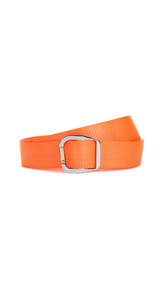 Tibi Carabiner Nylon Belt in orange