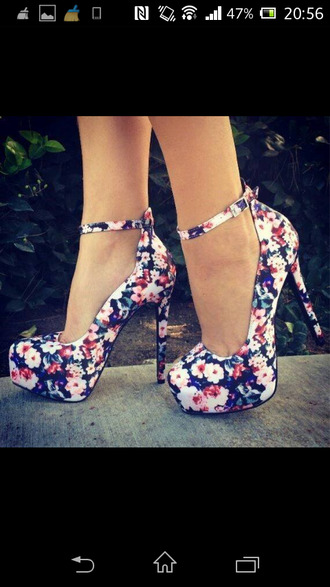 shoes flowers flower shoes high heels pumps blue floral shoes shoes floral high heels floral high heels flower pumps floral floral floral high heels colored shoes pink fashion cute high heels