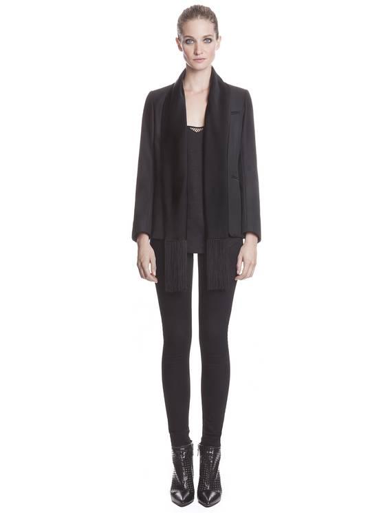 Veste Vous Noir - Vestes Sandro - E-Boutique Officielle SANDRO / Collection Printemps-Été 2013 SANDRO