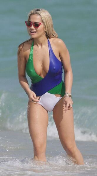 sunglasses rita ora summer beach swimwear one piece swimsuit