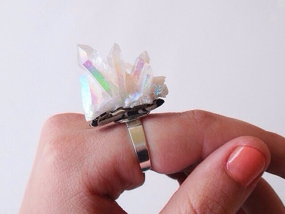 jewels ring gold ring gem stones crystals raw crystal gems gemstone colorful ring crystal