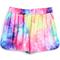 Yellow elastic waist straight shorts - sheinside.com