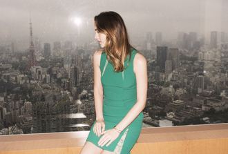 dress leighton meester green dress