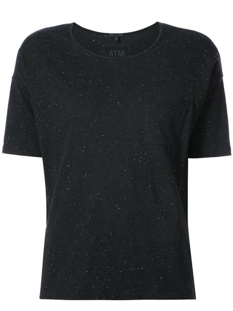 ATM Anthony Thomas Melillo t-shirt shirt pocket t-shirt t-shirt women cotton black top
