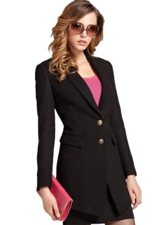 Amazon.com: Moonbasa Women's Simply Design Autumn Coat Long Sleeve Tweed Coat: Clothing
