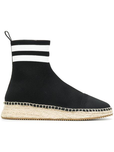high women espadrilles leather cotton black shoes