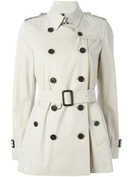 coat trench coat short women nude cotton