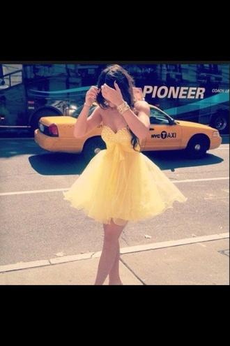 dress yellow dress flowy dress sparkly dress
