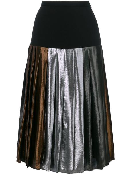 CHRISTOPHER KANE skirt midi skirt pleated women midi black silk