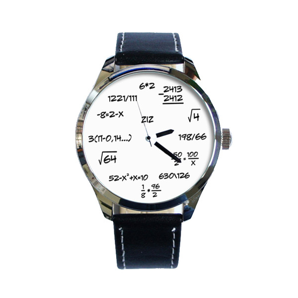 jewels ziz watch leather watch formula watch designer watch unique watch unusual watch cool watch ziziztime black n white maths watch watch watch watch