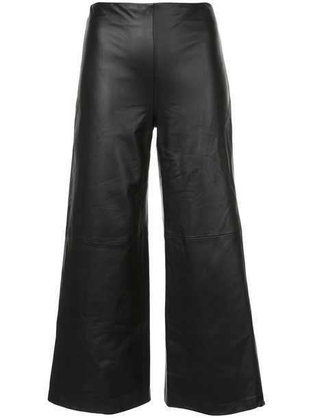 Adam Lippes cropped women black silk pants
