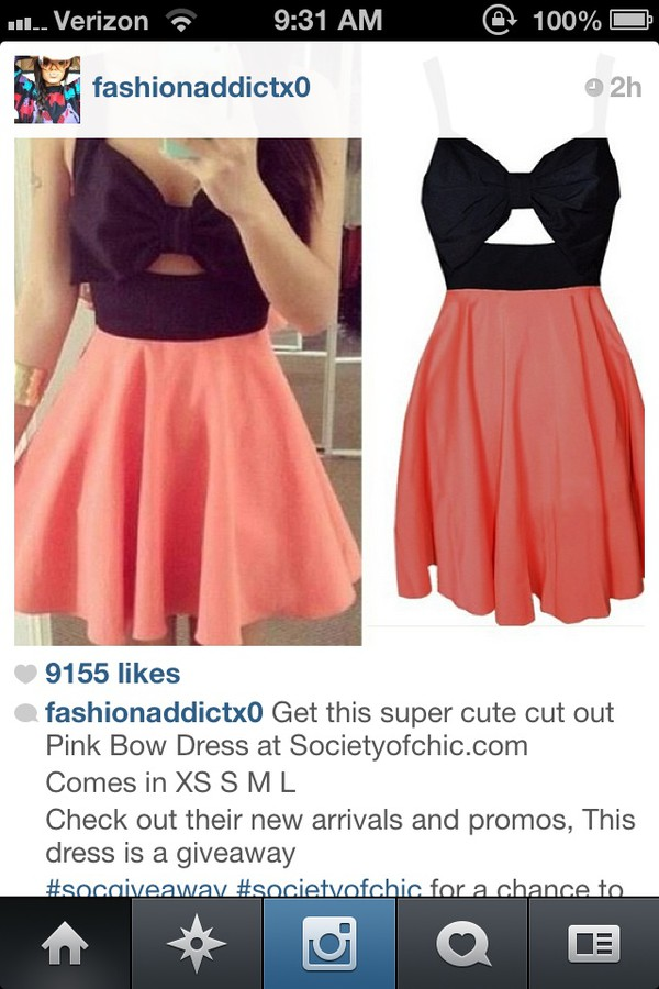 dress black bow bandeau black and pink dress bow dress pink dress