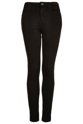 MOTO Black Jamie High Waisted Jeans - Jeans  - Clothing  - Topshop
