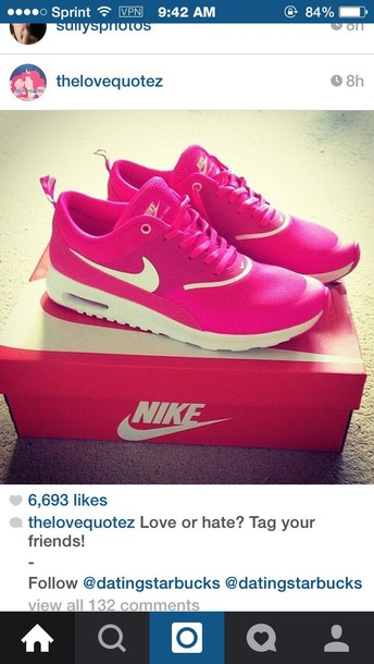 shoes nike hot pink with whitee