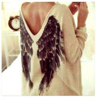 sweater pullover angel cool want want want!