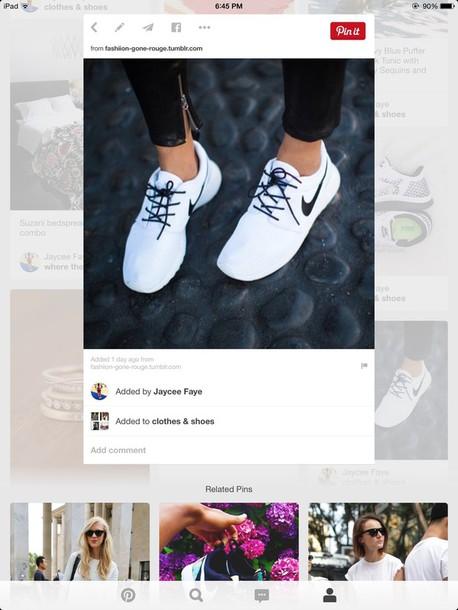 shoes white nikes running shoes roshe runs