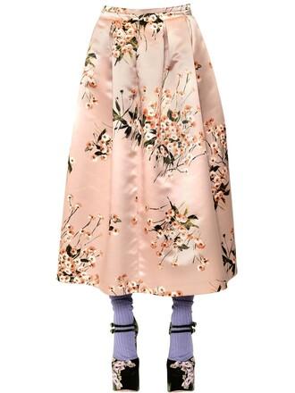 skirt floral pink