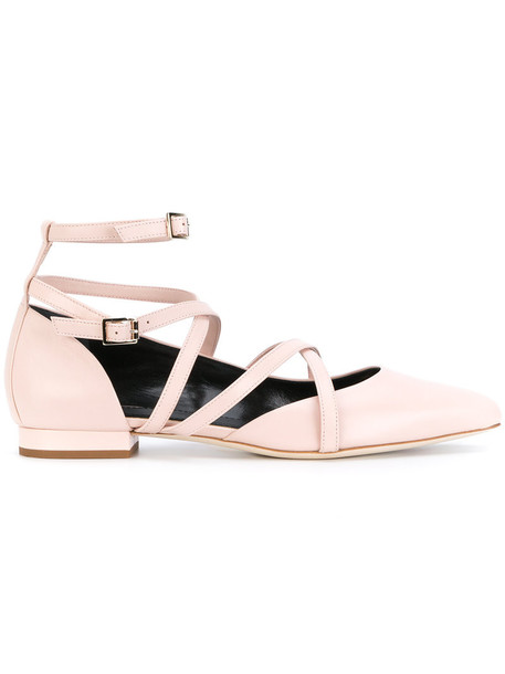 lanvin strappy women shoes leather nude suede