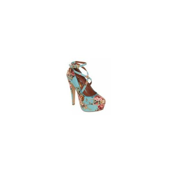 Office Simple Minds Blue Floral Textile - Women - Look Magaz... - Polyvore