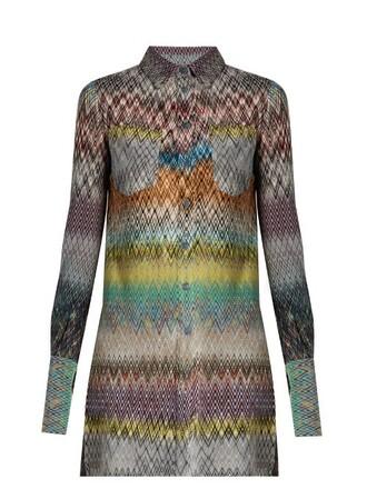 blouse knit chevron top
