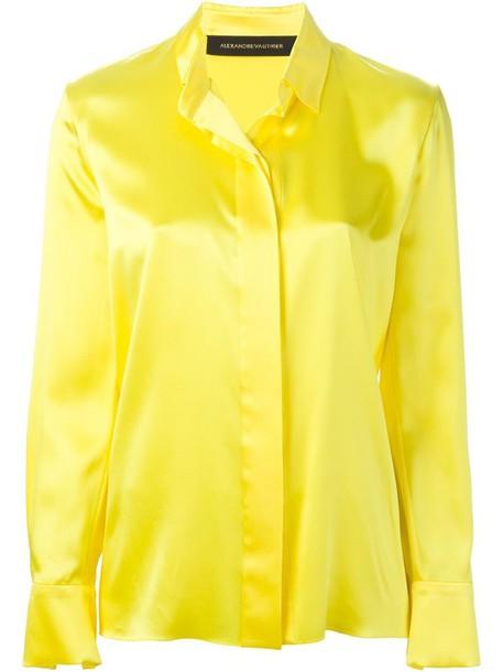 shirt classic yellow orange top