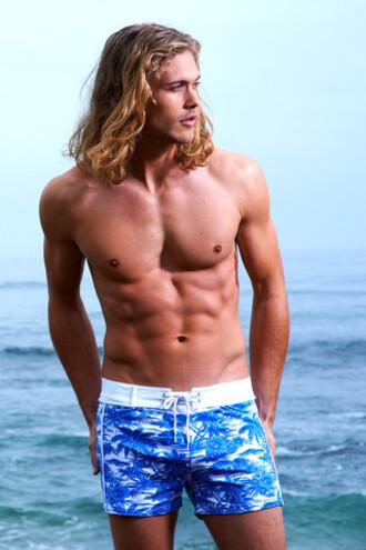 shorts mens mens swimwear blue designer swim trunks bikiniluxe