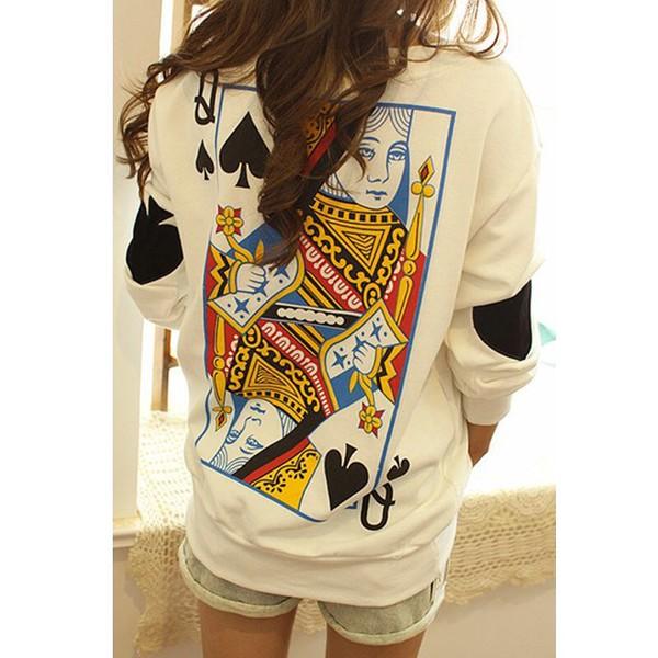 sweater queen shirt white white t-shirt