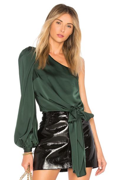 Lovers + Friends blouse dark green top