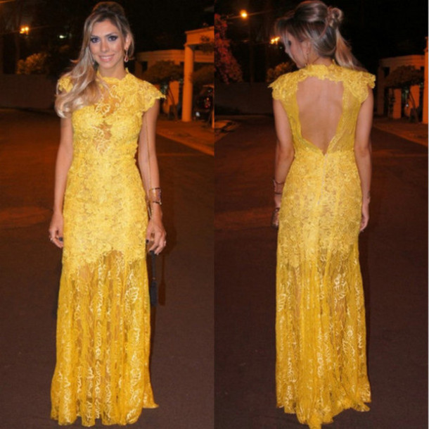 Maxi dress korean yellow