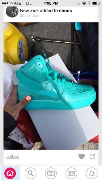 shoes turquoise nike shoes nike air nike high tops