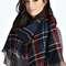 Kady two sided tartan check scarf