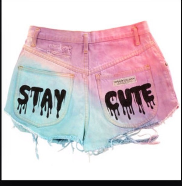 shorts mixedcolors staycute polyvore
