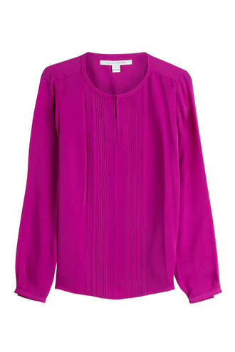 blouse silk purple top
